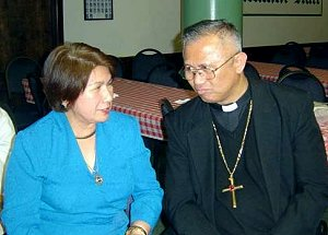 Bishop Palma with Esdras Cleofe Romao-Villanueva photo